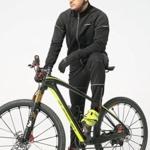 4Ucycling Herren Fahrradjacke Winddicht Sport Radjacke Fleecejacke Radsport Outdoorjacken 3-Lagen Jacke -