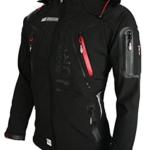 Geographical Norway Herren Softshell Funktions Outdoor Jacke wasserabweisend [GeNo-5-Schwarz-Gr.L] -