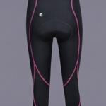 SMARTSTAR Damen Frauen Mädchen Radfahren Reiten GEL gepolsterte Shorts Fahrradbekleidung Capri Hose Strumpfhose Größe XXL - Pink -